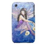 Purple Fairy Goth Skull Art, Custom iPhone Case iPhone 3 Covers