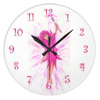 Purple Fairy Large Clock