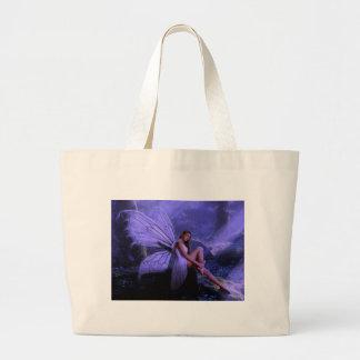 Purple Fairy Large Tote Bag