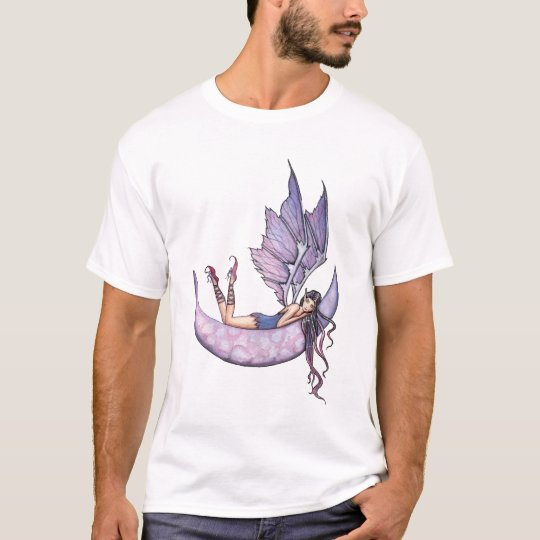 Purple Fairy on Moon T-Shirt