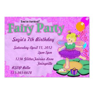 Purple Fairy Party Card