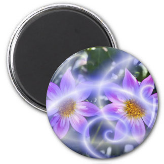 Purple Fairy Trails Dahlia On Canvas And Multiple Magnet