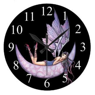 Purple Fairy Wall Clock