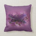 Purple Fairys Feather Pillows
