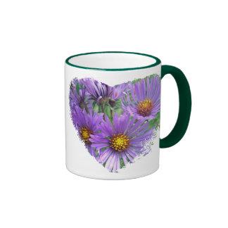 Purple Fall Asters Wildflower Matching Items Mugs