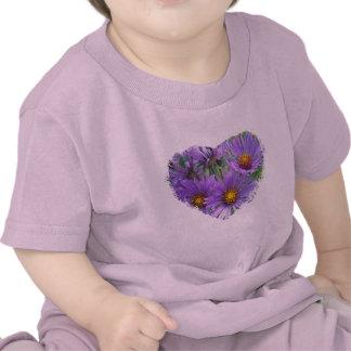 Purple Fall Asters Wildflower Matching Items Tshirts