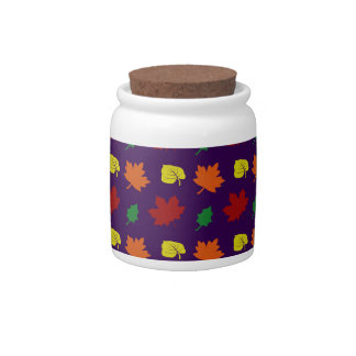 Purple fall leaves candy dish