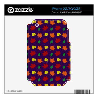 Purple fall leaves iPhone 2G skins