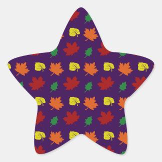 Purple fall leaves sticker