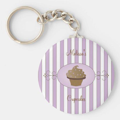 Purple Fancy Cake Basic Round Button Keychain