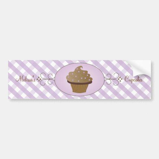 Purple Fancy Cake Bumper Stickers