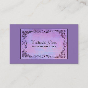 purple fancy frame business card - Fancy Business Cards