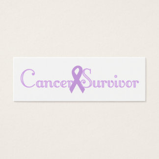 Purple Fancy Survivor Bookmark Mini Business Card