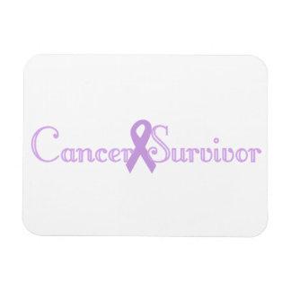 Purple Fancy Survivor Magnet