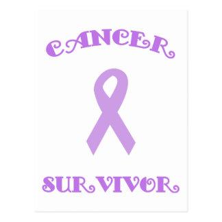 Purple Fancy Survivor Postcard