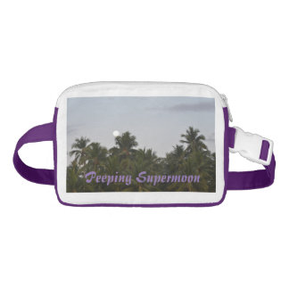 Purple Fanny Pack Dusk Coconuts Peeping Supermoon