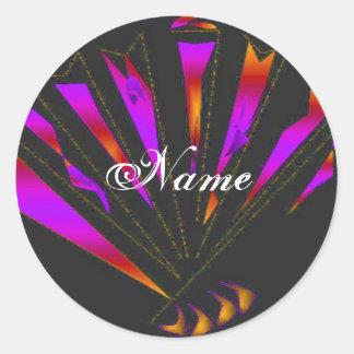 """""""Purple Fantasia"""" Sticker Round Sticker"""
