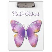 Purple Fantasy Butterfly Clipboard