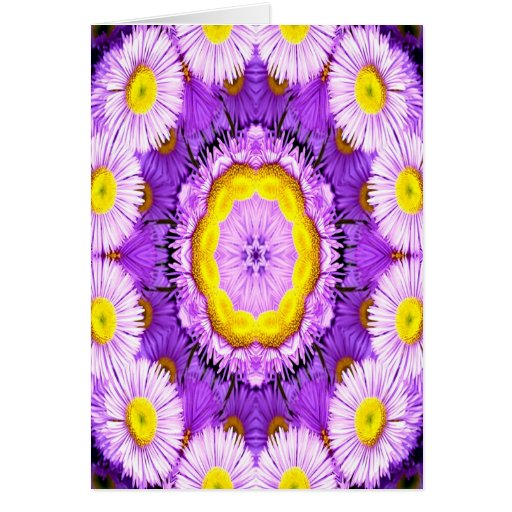 purple fantasy center of love greeting card