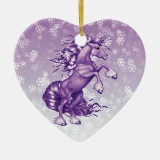 Purple Fantasy Ceramic Ornament