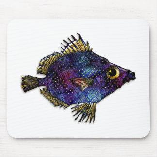 Purple Fantasy Discus Fish Mouse Pad