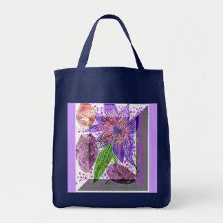 Purple Fantasy Flower Bag