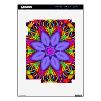 Purple Fantasy Flower on decorative background Skin For iPad 3