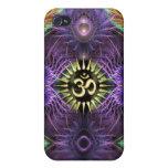 Purple Fantasy Fractals NewAge Aum Speck iPhone 4/4S Covers
