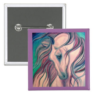 Purple Fantasy Horse Buttons