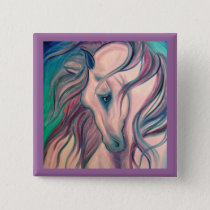 Purple Fantasy Horse Pinback Button