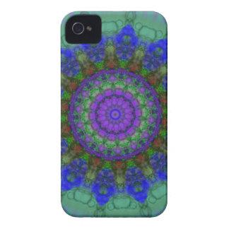 Purple Fantasy mandala iPhone 4 4s case