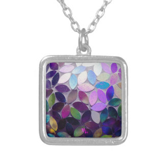 Purple Fantasy Silver Plated Necklace