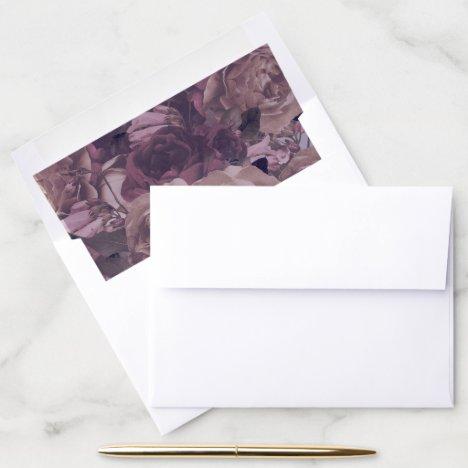 Purple Fantasy Wedding Envelope Liner