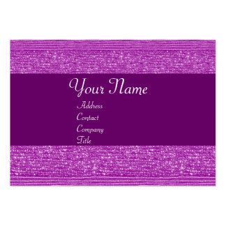 PURPLE FASHION BEADS MONOGRAM BUSINESS CARD TEMPLATE