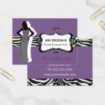 purple fashion boutique Business Cards