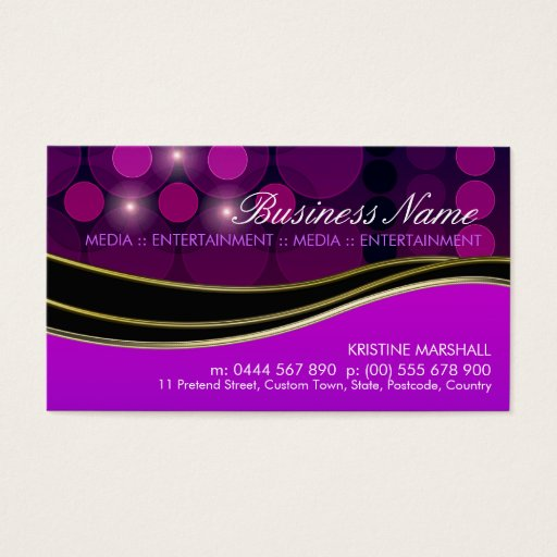 Purple Fashion Music Media Artistic Business Card