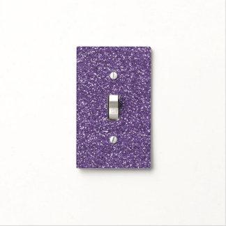 Purple Faux Glitter Switch Plate Covers