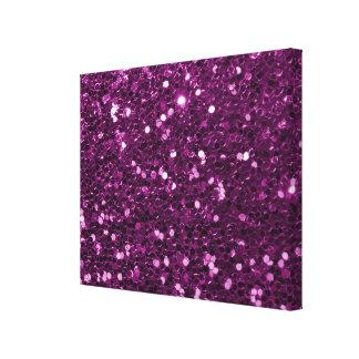 Purple Faux Glitter Sparkles Canvas Print