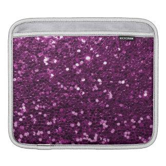 Purple Faux Glitter Sparkles iPad Sleeve