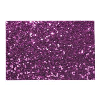 Purple Faux Glitter Sparkles Placemat
