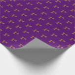 [ Thumbnail: Purple, Faux Gold 1st (First) Event Wrapping Paper ]
