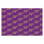 [ Thumbnail: Purple, Faux Gold 26th (Twenty-Sixth) Event Tissue Paper ]