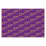[ Thumbnail: Purple, Faux Gold 27th (Twenty-Seventh) Event Tissue Paper ]