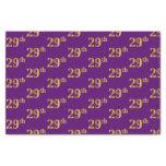 [ Thumbnail: Purple, Faux Gold 29th (Twenty-Ninth) Event Tissue Paper ]