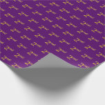 [ Thumbnail: Purple, Faux Gold 2nd (Second) Event Wrapping Paper ]