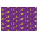 [ Thumbnail: Purple, Faux Gold 31st (Thirty-First) Event Tissue Paper ]