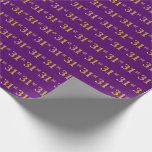 [ Thumbnail: Purple, Faux Gold 31st (Thirty-First) Event Wrapping Paper ]