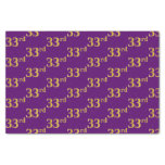 [ Thumbnail: Purple, Faux Gold 33rd (Thirty-Third) Event Tissue Paper ]