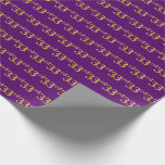 [ Thumbnail: Purple, Faux Gold 33rd (Thirty-Third) Event Wrapping Paper ]
