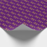 [ Thumbnail: Purple, Faux Gold 35th (Thirty-Fifth) Event Wrapping Paper ]
